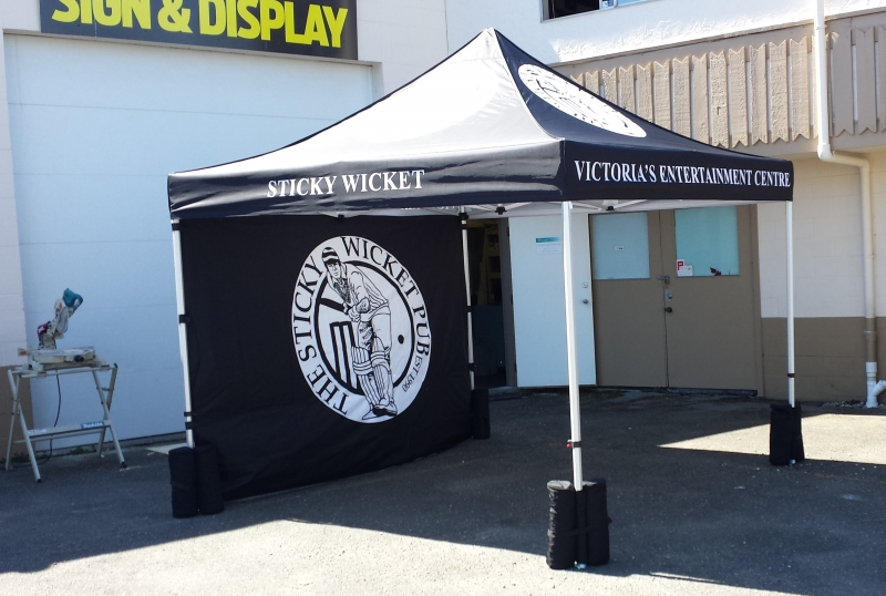 10 x 10 tent with backwall & Minimax Media in Victoria BC | Images tagged