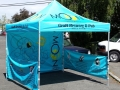 10 x10 tent with back and sides